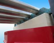 duplex trailer - podkład ładunku wózek boczny
